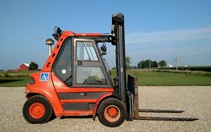 1998 Linde H60d Forklift Enclosed Cab Dual Pneumatic Air Tires Deutz Diesel