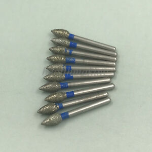 200 Dental Diamond Flame Ogival End Burs Fg1 6mm For High Speed Handpiece Fo 25