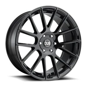 One 22x9 5 Dub Luxe S205 6x5 5 Et30 Gloss Black Wheel