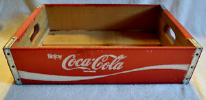 RED COCA COLA WOODEN CRATE AMAZING CONDITION!