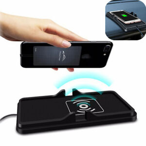 Qi Wireless Fast Phone Charger Non Slip Car Dashboard Holder Mount For Samsung