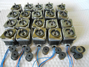 Lot Stepper Motor Nema 17 76 Oz in Cnc Mill Robot Reprap 3d Printer Gt2 Pulley