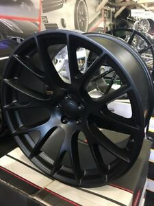 22 Staggered Hell Cat Replica Black Wheels And Tires Asanti Forgiato Lexani Dub