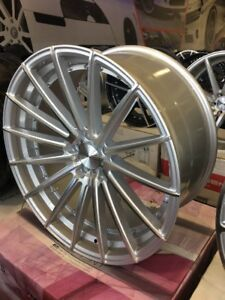 22 Staggered Element El15 Silver Machine Wheels And Tires Asanti Forgiato Dub