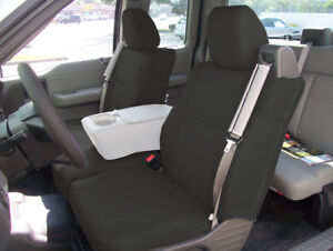 Ford F 150 04 08 S leather Front Custom Fit Seat Cover Built In Seatbelt Black