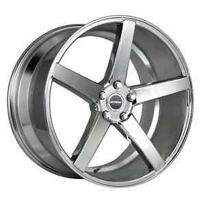 18 Inch Strada Perfetto Chrome Wheels Tire Package Set Of 4
