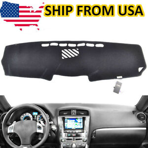 Black Dashboard Cover Dashmat Dash Mat For Lexus Is 250 350 2006 2013