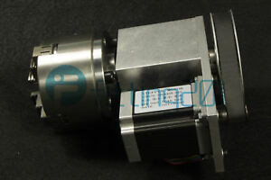 4th Axis Hollow Shaft Cnc Router Rotational 4 Jaw Chuck Engraving A Axis 100mm