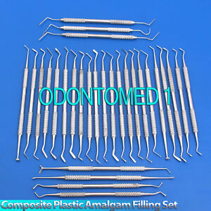 30 Pcs Dental Composite Plastic Amalgam Filling Restorative Instruments Set