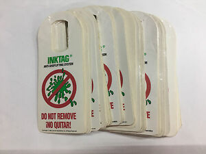 Ink Tag Warning Labels 5000 Pieces Used With Any Ink Tags Security Tag Systems