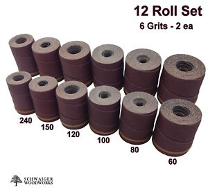 Drum Sander Sanding Wraps rolls Jet performax 22 44 22 44 Plus pro 12 Pc Set