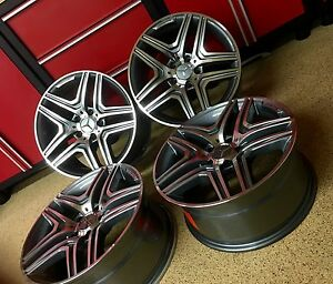 Mercedes 2017 Gl63 20 In Gunmetal Rims Set 4 New Fitment Gl450amg