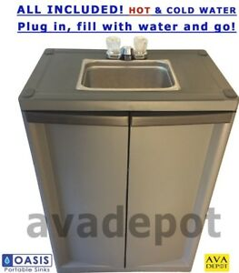 Portable Sink With Hot Water Self Contained