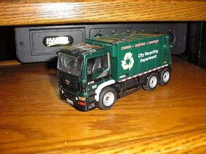 Vintage 5 5 8 Long Foreign City Recycling Department Garbage Truck Free Ship