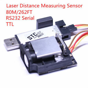 80m 262ft Range Laser Distance Measuring Sensor Finder Module Rs232 Serial