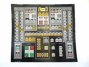 Cnc Machine Keypad Replacement Membrane overlay 11 30 00 Nos
