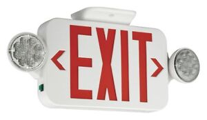 Hubbell Lighting Compass Exit Sign With Emergency Lights Ccrrc