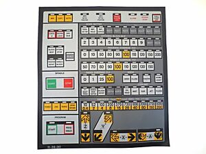 Cnc Machine Keypad Replacement Membrane overlay 11 39 00 Nos