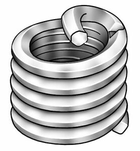 0 246 304 Stainless Steel Helical Insert With 8 32 Internal Thread Size Pk100