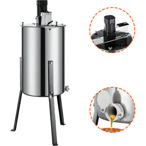 2 4 Frame Electric Honey Extractor Beekeeping Equipment Large Stainless Steel 24