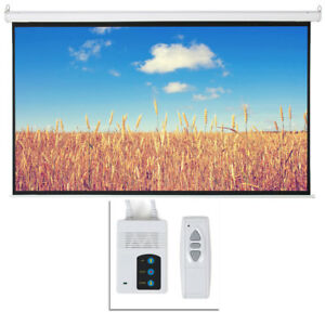 Easy Install 100 16 9 Hd Foldable Electric Motorized Projector Screen Remote