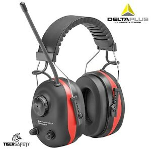 Delta Plus Venitex Pit Radio 3 Snr 28db Electronic Ear Defenders Fm Mp3 Aux Ppe