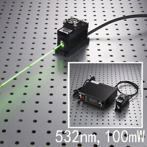 Green Laser Dot Module 532nm 100mw Tec Cooling 85 265v Ps ii Ttl 0 30khz