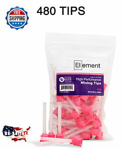 480 Hp Pink Medium Mixing Tips 5 4 Mm Dental Vps Pvs Impression Genuine Mixpac