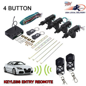 Universal Car Alarm Central Door Lock Motor Remote Control Entry System Keyless