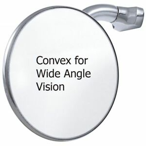Convex 4 Peep Mirror Stainless Curved Arm Style