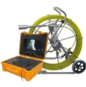 Sewer Drain Pipe 10 Lcd 300ft Cable 1 5 Inspection Video Camera 512 Hz Sonde