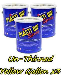 3 Gallons Yellow Unthinned Performix Plasti Dip Concentratestrength Free S h