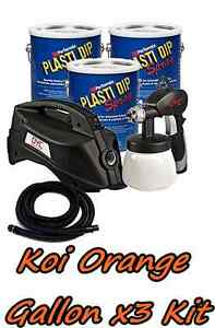 3 Gallons Koi Orange Performix Plasti Dip Dyc Dipsprayer Gun Bundle Kit Package