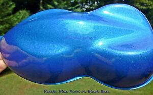 25g Pacific Blue Pearl Pigment Custom Auto Paint Lacquer Clear Matte