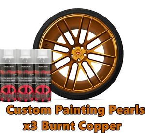 Dyc Performix Plasti Dip Pearl Burnt Copper Alloy Aerosol Spray Cans X3 Free S h
