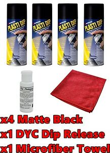 Plasti Dip Matte Black 4 Pack Wheel Kit Spray Cans Dyc Dip Release