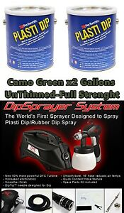 Plasti Dip 2 Gallons Camo Green Unthinned Full Strength Dyc Dipsprayer System