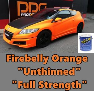 Plasti Dip Fluorescent Firebelly Orange Gallon Unthinned Full Strength Gallon