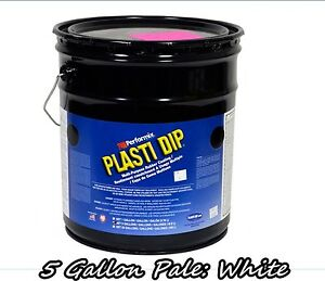 Plasti Dip White 5 Gallon Pale Bucket Ready To Spray Rubber Dip Spray Coating