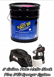 Plasti Dip Matte Black 5 Gallon Pale Bucket Dyc Dipspayer System Spayer Gun Kit