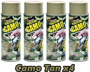 Performix Plasti Dip Camo Tan 4 Pack Rubber Coating Spray 11oz Aerosol Cans