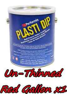 1 Gallon Red Unthinned Performix Plasti Dip Concentrate Full Strength