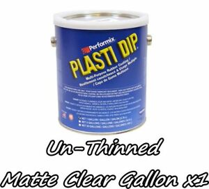 Plasti Dip 1 Gallon Matte Clear Concentrate Full Strength Unthinned Fast Ship