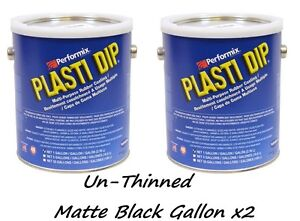 2 Gallon Matte Black Unthinned Performix Plasti Dip Concentrate Full Strength