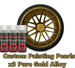 Dyc Performix Plasti Dip Pearl Pure Gold Alloy Aerosol Spray Cans X3 Free S h