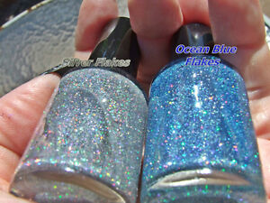 25g Silver Holographic Halo Flakes Kandys Urethane Base Lacquer Acrylic Clear