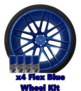 Performix Plasti Dip Flex Blue 4 Pack Wheel Kit Spray Aerosol Cans Free Ship