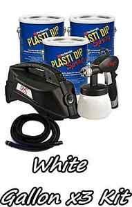 3 Gallons Matte White Performix Plasti Dip Dyc Dipsprayer Gun Bundle Kit