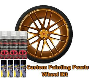 Dyc Performix Plasti Dip Pearl Wheel Kit 4 Matte Black 3 Burnt Copper Alloy Cans
