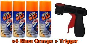 Performix Plasti Dip Blaze Orange 4 Pack 11oz Aerosol Cans Trigger Wheel Kit